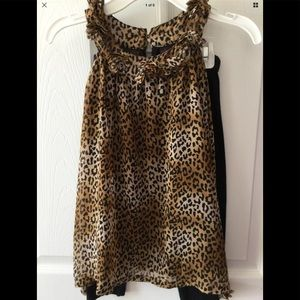 Self Esteem Outfit Leopard Print w/Leggings Size 6